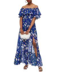 TOPSHOP - Blair Floral Off The Shoulder Maxi Dress - Lyst