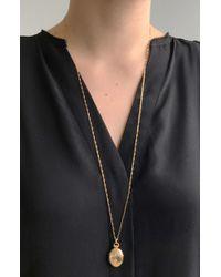 Monica Rich Kosann - 18k Large Pinstripe Locket Necklace - Lyst