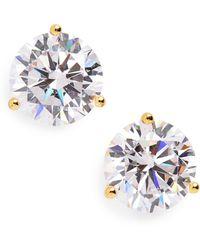 134a694bf2f39f Nordstrom 4ct Tw Princess Cut Cubic Zirconia Stud Earrings in Metallic -  Lyst