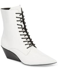 Calvin Klein - Faith Pointy Toe Laced Bootie - Lyst