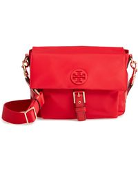 f302441fbfa Lyst - Tory Burch Tilda Nylon Crossbody Bag in Red