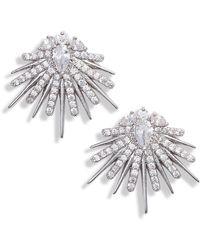 Jenny Packham - Crystal Stud Earrings - Lyst