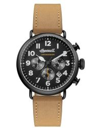 INGERSOLL WATCHES | Ingersoll Trenton Chronograph Leather Strap Watch | Lyst