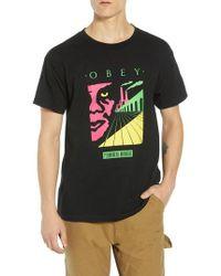 Obey - Permanent Midnight Premium T-shirt - Lyst