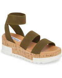 Steve Madden - Bandi Platform Wedge Sandal - Lyst