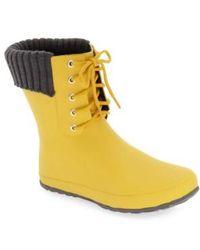 Dav - Lace-up Weatherproof Rain Boot - Lyst