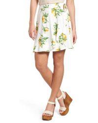 Mimi Chica - Fruit Print Side Tie Skirt - Lyst
