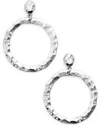 Karine Sultan | Jewely Cubic Zirconia Frontal Hoop Earrings | Lyst