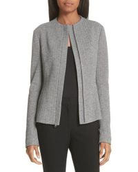 Theory - Sculpted Chevron Jacket - Lyst
