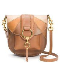 Frye - Ilana Colorblock Leather Saddle Bag - - Lyst