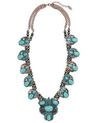 Natasha Couture - Leaf Stone Necklace - Lyst