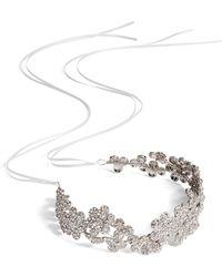 Brides & Hairpins - Fiora Crystal Halo & Sash - Lyst