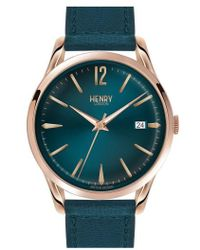 Henry London - 'stratford' Leather Strap Watch - Lyst