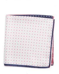 Nordstrom - Four Panel Dot Silk Pocket Square - Lyst