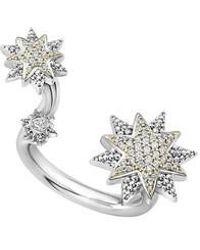 Lagos - 18k Gold & Sterling Silver North Star Diamond Ring - Lyst