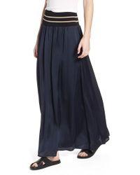 Scotch & Soda - Stripe Waist Maxi Skirt - Lyst
