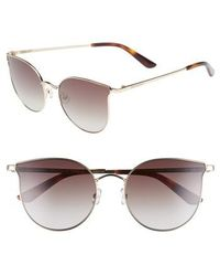 Juicy Couture - 56mm Metal Cat Eye Sunglasses - - Lyst