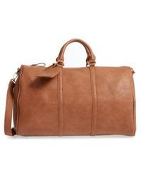 Sole Society - 'cassidy' Faux Leather Duffel Bag - Lyst