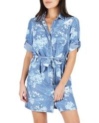 Kut From The Kloth - Amerie Belted Chambray Dress - Lyst