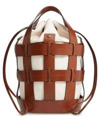 Trademark - Cooper Cage Leather & Canvas Tote - - Lyst
