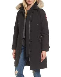 Canada Goose - Kensington Slim Fit Down Parka With Genuine Coyote Fur Trim - Lyst