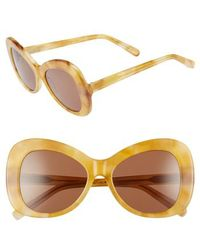 Elizabeth and James - Palmer 54mm Butterfly Sunglasses - Amber Tortoise/ Brown - Lyst