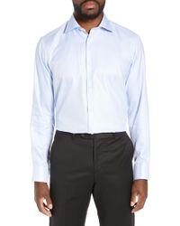 Bugatchi - Trim Fit Solid Dress Shirt - Lyst
