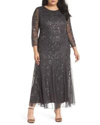 Pisarro Nights - Embellished Three Quarter Sleeve Gown - Lyst