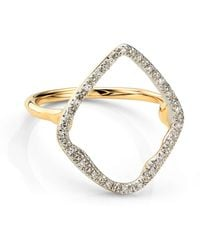 Monica Vinader - Riva Hoop Diamond Ring - Lyst