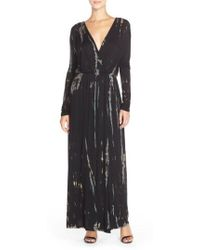 Fraiche By J - Tie Dye Faux Wrap Maxi Dress - Lyst