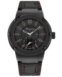 Ferragamo | 'f-80 Motion' Leather Strap Smart Watch | Lyst
