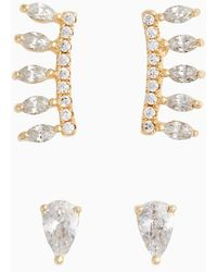 Nordstrom - Pave Set Of 2 Pear Marquise Ear Crawlers - Lyst