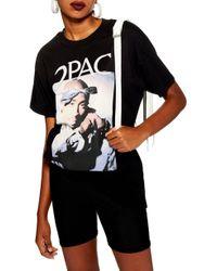 TOPSHOP - Tupac Boyfriend Tee - Lyst