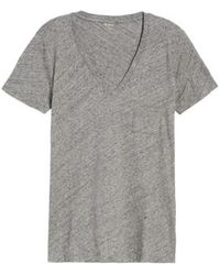 Madewell - 'whisper' Cotton V-neck Pocket Tee - Lyst
