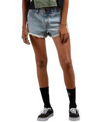Volcom - 1991 Cutoff Denim Shorts - Lyst