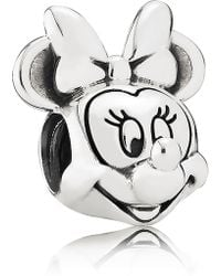 PANDORA - Disney Minnie Mouse Portrait Charm - Lyst