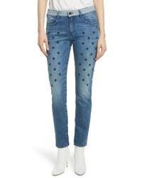 Brockenbow - Embellished Boyfriend Jeans - Lyst