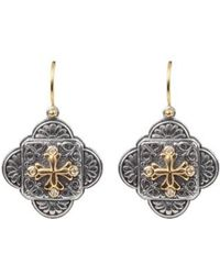 Konstantino - Diamond Clover Drop Earrings - Lyst