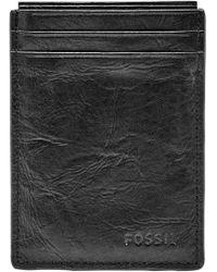 Fossil - Neel Magnetic Leather Money Clip Card Case - Lyst