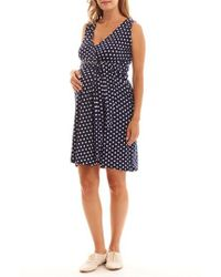 Everly Grey - Tobin Print Faux Wrap Maternity/nursing Dress - Lyst