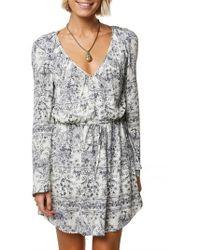 O'neill Sportswear - Gretchen Bell Sleeve Blouson Dress - Lyst