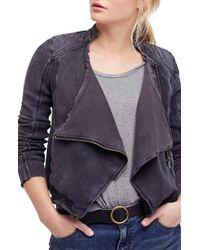 Free People - Shrunken Moto Jacket - Lyst