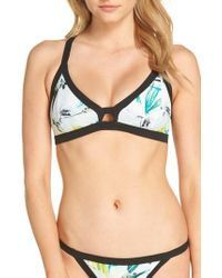 Hurley - Garden Quick Dry Surf Bikini Top - Lyst