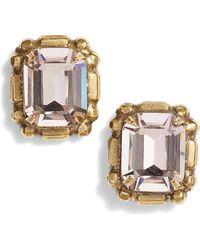 Sorrelli - Emerald Cut Crystal Stud Earrings - Lyst