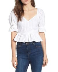 The Fifth Label - Currency Puff Sleeve Top - Lyst