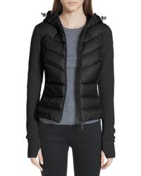 Moncler - Quilted Front Fleece Jacket - Lyst