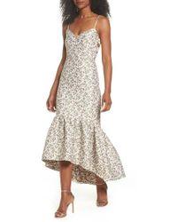 JILL Jill Stuart - Jacquard High/low Midi Dress - Lyst