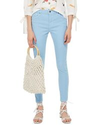 TOPSHOP - Moto Leigh Mid Rise Jeans - Lyst