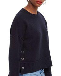 TOPSHOP - Mo Seam Detail Popper Sweater - Lyst