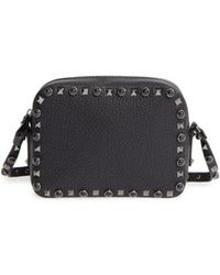 Valentino - 'rockstud Noir' Camera Crossbody Bag - - Lyst